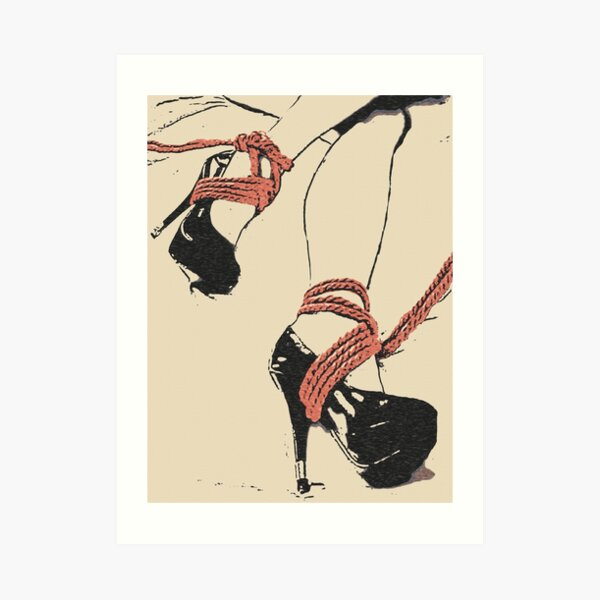 Good Girl knows what to wear, bdsm, bondage play 2 Art Print