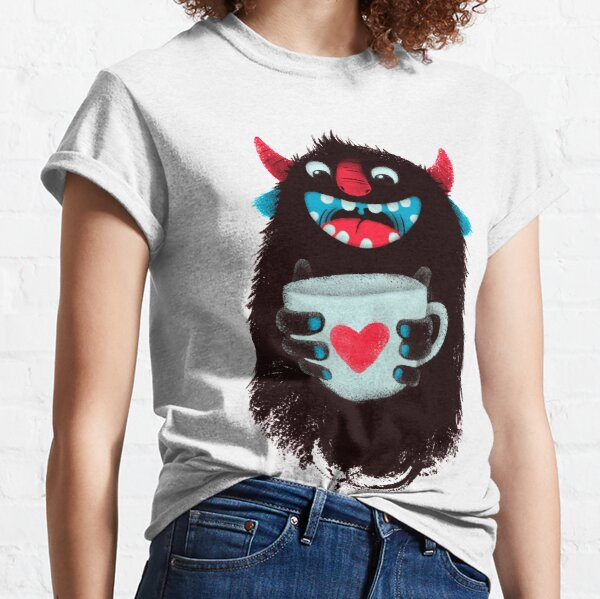 Demon with cup Classic T-Shirt