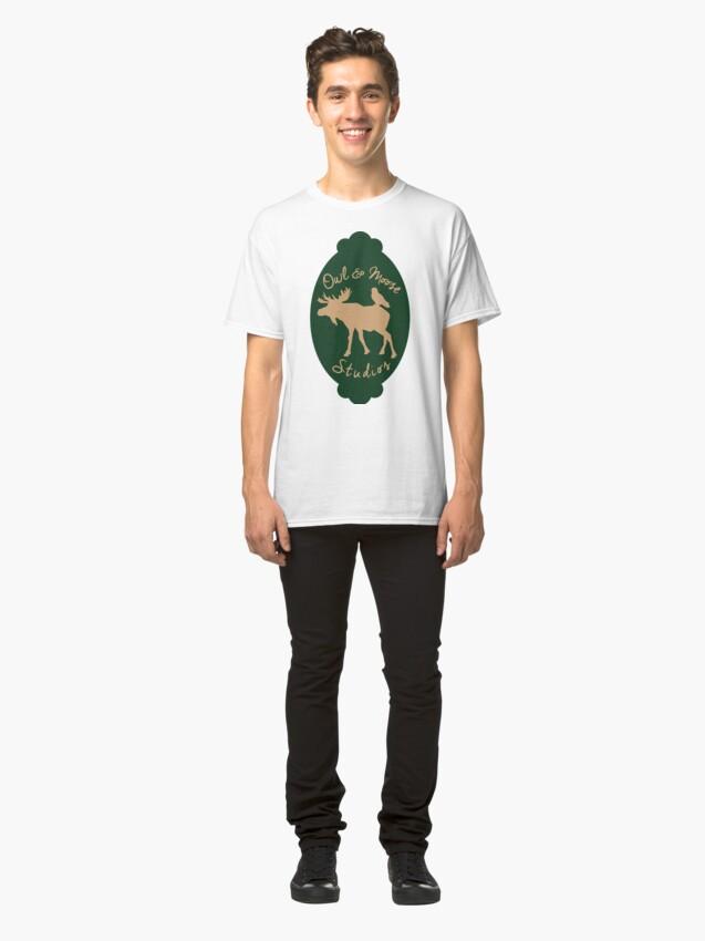 Alternate view of Owl & Moose Studios Classic T-Shirt