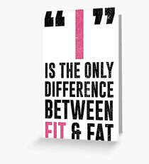 I Is The Difference Greeting Card
