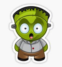 Frankenstein Monster Boy Shocked Sticker