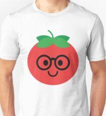 Tomato Emoji Noob Nerd Glasses T-Shirt