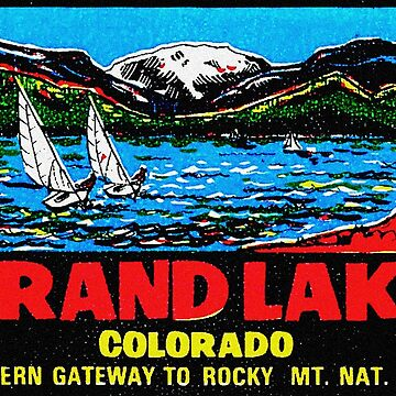 Calcomanía de viaje vintage Grand Lake Colorado de hilda74