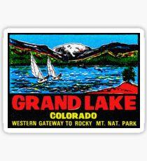 Grand Lake Colorado Vintage Travel Decal Sticker