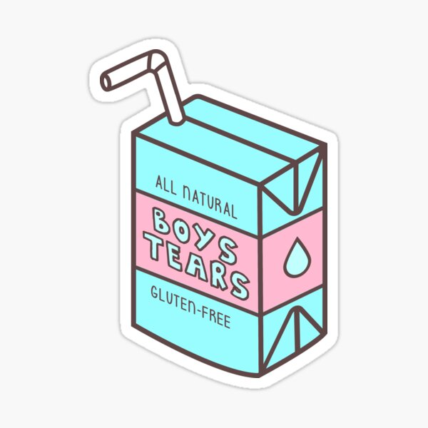 Boys Tears Juicebox Pegatina