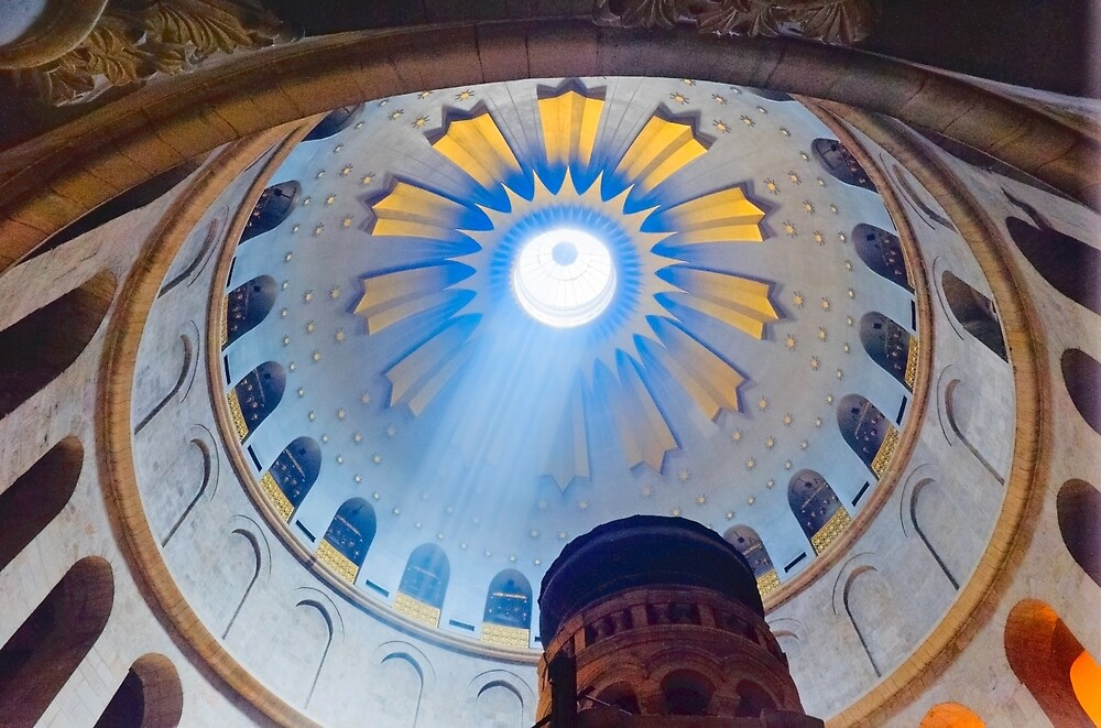 Jerusalem: The Church of the Holy Sepulcher dome. by Eyal Nahmias