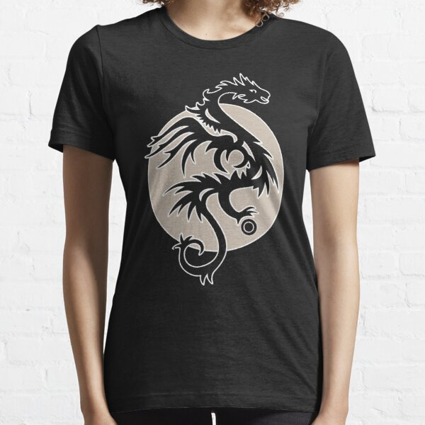 moon dragon with pearl Essential T-Shirt
