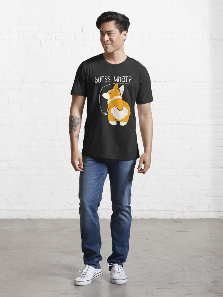 Alternate view of Love Corgi Butt dog Essential T-Shirt