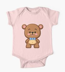 Brown Bear Boy Kawaii One Piece - Short Sleeve