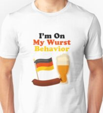 I'm on my wurst behavior Unisex T-Shirt