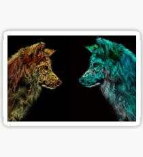 Wolves - Day and Night Sticker