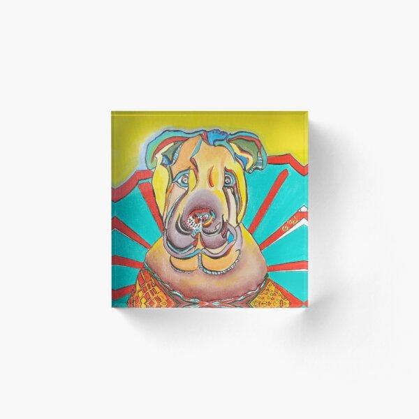 Beach Dog Acrylic Block