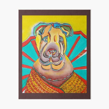 Beach Dog Art Board Print