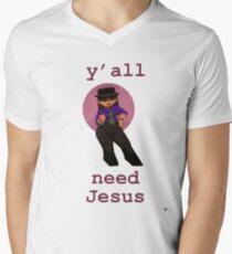 Y'all Need Jesus Men's V-Neck T-Shirt