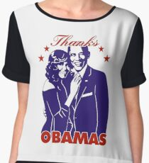 Thanks OBAMAS The President and his wife Chiffon Top