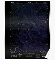 USGS TOPO Map California CA Shields Creek 20120312 TM geo Inverted Poster