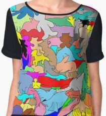 Cookie cutter animals - multi-coloured Chiffon Top