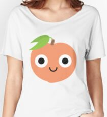 Peach Emoji Shock and Surprise Women's Relaxed Fit T-Shirt