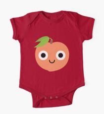Peach Emoji Shock and Surprise One Piece - Short Sleeve