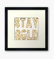 Bleib Gold Gerahmtes Wandbild