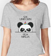 Unicorn Ninja Panda Women's Relaxed Fit T-Shirt