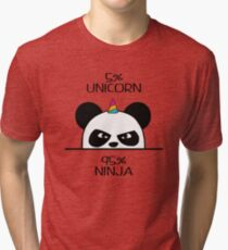 Unicorn Ninja Panda Tri-blend T-Shirt