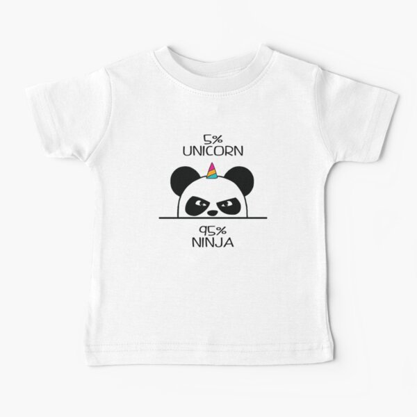 Unicorn Ninja Panda Baby T-Shirt