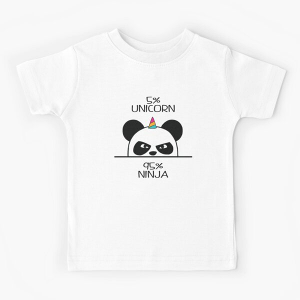 Unicorn Ninja Panda Kids T-Shirt