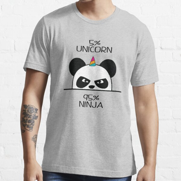 Unicorn Ninja Panda Essential T-Shirt