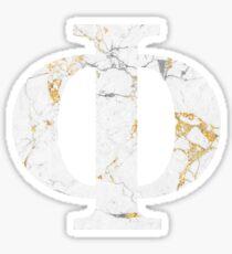 Phi - Gold Foil White Marble Sticker