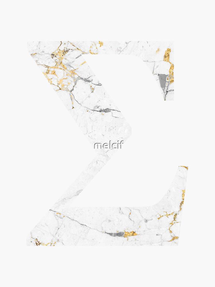 Sigma - Vergoldeter weißer Marmor von melcif