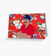 Magnum Stache Greeting Card