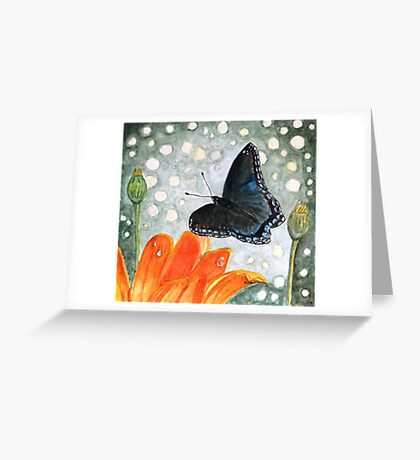 A Garden Visitor Greeting Card
