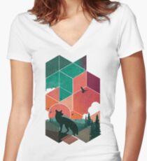 Natural Habitat Women's Fitted V-Neck T-Shirt