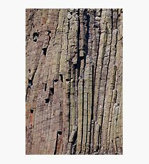 Climbers on Devils Tower Photographic Print