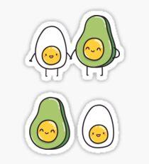 Egg and Avocado Sticker