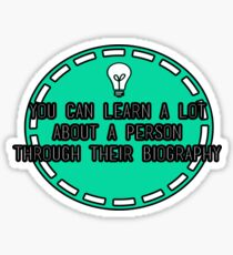 You can learn a lot about a person.... Sticker