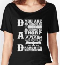 Dad - Superhero - Dad Gifts For Father's Day Women's Relaxed Fit T-Shirt