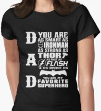 Dad - Superhero - Dad Gifts For Father's Day Women's Fitted T-Shirt
