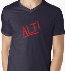Alt! - rock music parody t-shirts etc. Men's V-Neck T-Shirt