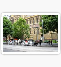 Melbourne Horse Drawn Carriages Sticker