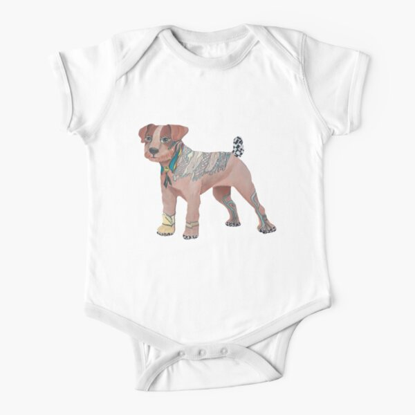 Dog Lovers Short Sleeve Baby One-Piece