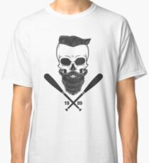 Bearded Skull - Totenkopf, Bart, Hipster, Baseball Classic T-Shirt