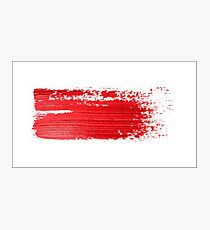 Red brush strokes  Photographic Print