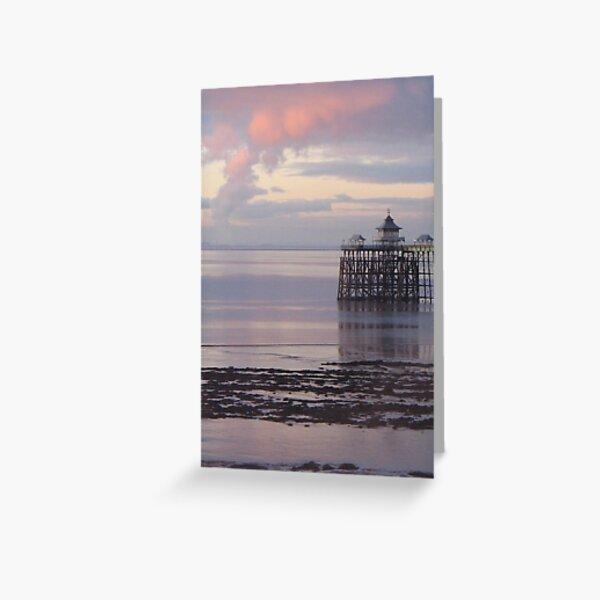 Pink Pier Greeting Card