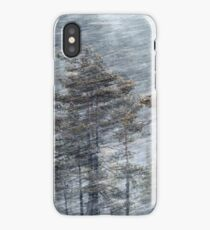 12.1.2017: Pine Trees in Blizzard iPhone Case