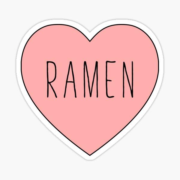 I Love Ramen Heart Sticker