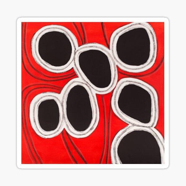 Red Black Blobs Sticker