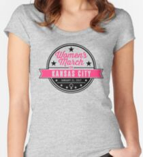 women's march on KANSAS CITY  Women's Fitted Scoop T-Shirt