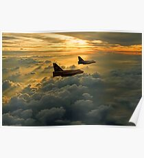 English Electric Lightning sunset flight Poster